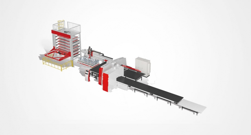 EPSS系列数控冲-剪复合板材柔性加工线